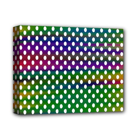 Digital Polka Dots Patterned Background Deluxe Canvas 14  X 11