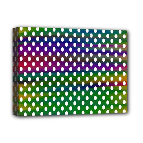 Digital Polka Dots Patterned Background Deluxe Canvas 16  X 12