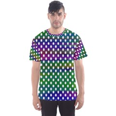 Digital Polka Dots Patterned Background Men s Sport Mesh Tee