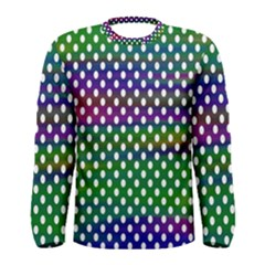 Digital Polka Dots Patterned Background Men s Long Sleeve Tee