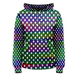 Digital Polka Dots Patterned Background Women s Pullover Hoodie