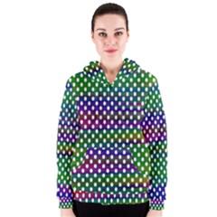 Digital Polka Dots Patterned Background Women s Zipper Hoodie