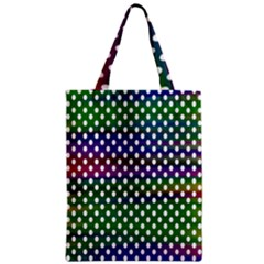 Digital Polka Dots Patterned Background Zipper Classic Tote Bag