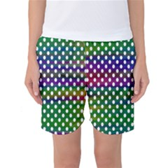 Digital Polka Dots Patterned Background Women s Basketball Shorts