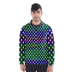 Digital Polka Dots Patterned Background Wind Breaker (men)