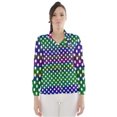Digital Polka Dots Patterned Background Wind Breaker (women)
