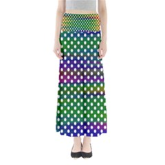 Digital Polka Dots Patterned Background Maxi Skirts