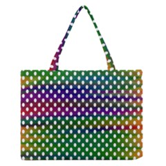 Digital Polka Dots Patterned Background Medium Zipper Tote Bag