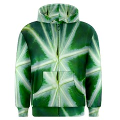Green Leaf Macro Detail Men s Zipper Hoodie