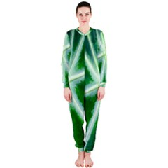 Green Leaf Macro Detail OnePiece Jumpsuit (Ladies)