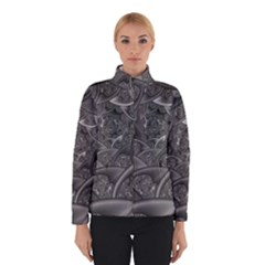Fractal Black Ribbon Spirals Winterwear