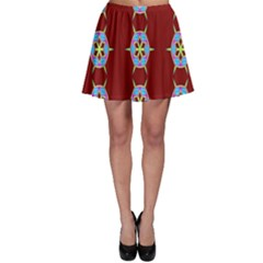 Geometric Seamless Pattern Digital Computer Graphic Skater Skirt
