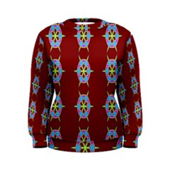 Geometric Seamless Pattern Digital Computer Graphic Women s Sweatshirt