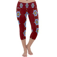 Geometric Seamless Pattern Digital Computer Graphic Capri Yoga Leggings