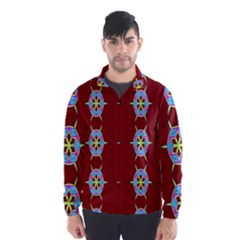 Geometric Seamless Pattern Digital Computer Graphic Wind Breaker (Men)