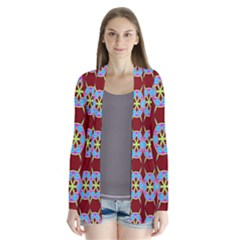 Geometric Seamless Pattern Digital Computer Graphic Cardigans