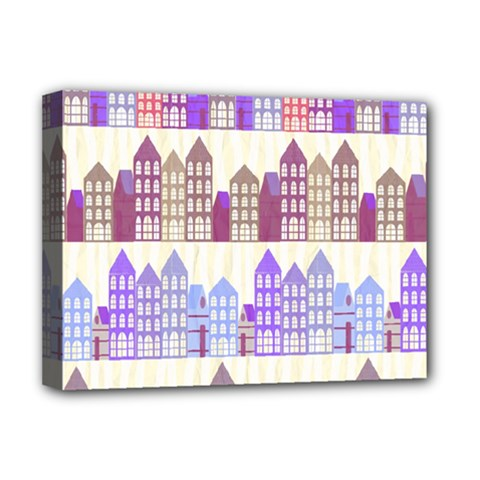 Houses City Pattern Deluxe Canvas 16  x 12