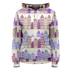 Houses City Pattern Women s Pullover Hoodie