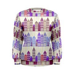 Houses City Pattern Women s Sweatshirt