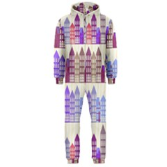 Houses City Pattern Hooded Jumpsuit (Men)