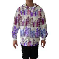 Houses City Pattern Hooded Wind Breaker (Kids)