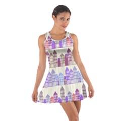 Houses City Pattern Cotton Racerback Dress
