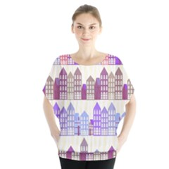 Houses City Pattern Blouse