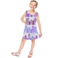 Houses City Pattern Kids  Tunic Dress