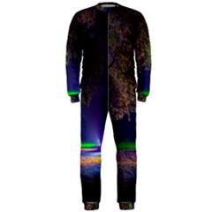 Illuminated Trees At Night OnePiece Jumpsuit (Men)