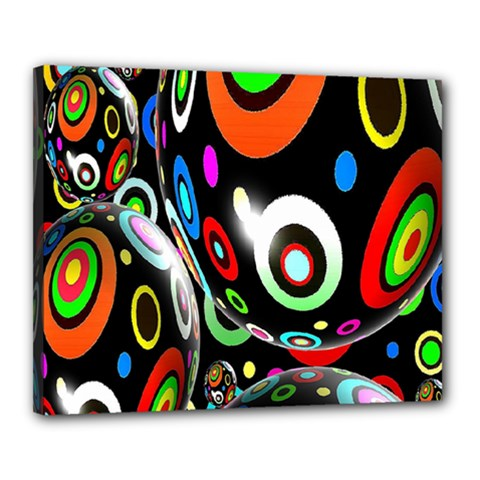 Background Balls Circles Canvas 20  x 16