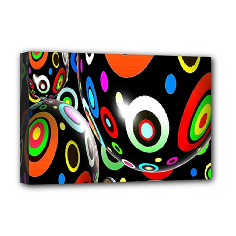 Background Balls Circles Deluxe Canvas 18  x 12