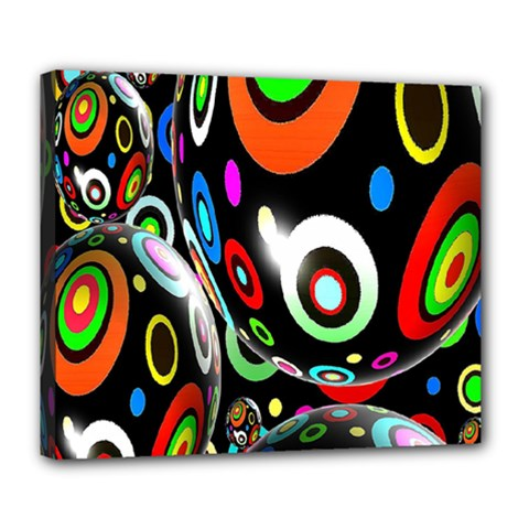 Background Balls Circles Deluxe Canvas 24  x 20