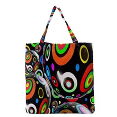 Background Balls Circles Grocery Tote Bag
