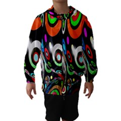 Background Balls Circles Hooded Wind Breaker (kids)