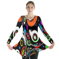 Background Balls Circles Long Sleeve Tunic