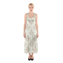Seamless Floral Pattern Sleeveless Maxi Dress