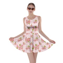Beautiful hand drawn flowers pattern Skater Dress