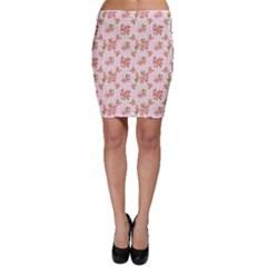 Beautiful hand drawn flowers pattern Bodycon Skirt