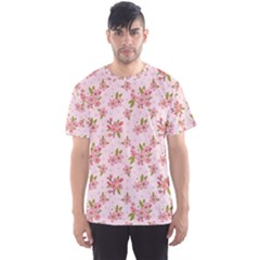 Beautiful hand drawn flowers pattern Men s Sport Mesh Tee