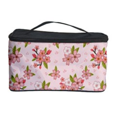 Beautiful hand drawn flowers pattern Cosmetic Storage Case