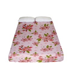 Beautiful hand drawn flowers pattern Fitted Sheet (Full/ Double Size)