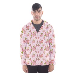 Beautiful hand drawn flowers pattern Hooded Wind Breaker (Men)