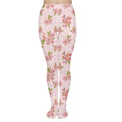 Beautiful hand drawn flowers pattern Women s Tights