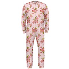 Beautiful hand drawn flowers pattern OnePiece Jumpsuit (Men)
