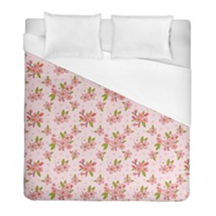 Beautiful hand drawn flowers pattern Duvet Cover (Full/ Double Size)
