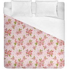 Beautiful hand drawn flowers pattern Duvet Cover (King Size)