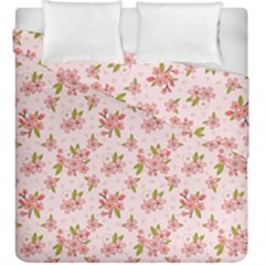 Beautiful hand drawn flowers pattern Duvet Cover Double Side (King Size)