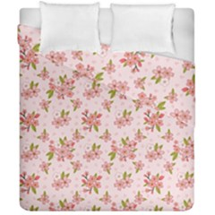 Beautiful hand drawn flowers pattern Duvet Cover Double Side (California King Size)
