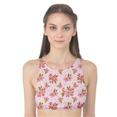 Beautiful hand drawn flowers pattern Tank Bikini Top