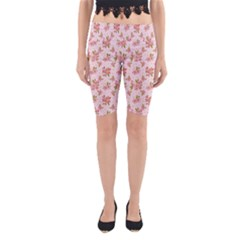 Beautiful hand drawn flowers pattern Yoga Cropped Leggings